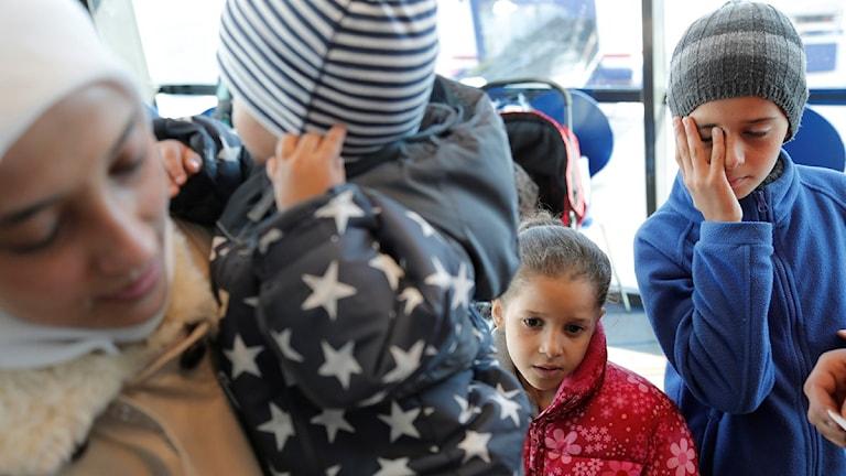 وصول اللاجئين الى مينا يوتبوري