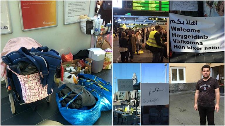 Collage, #flyktvägen. Foto: Revend Şêxo / Radio Sweden Arabic