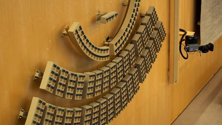 نموذج فني لمقاعد اعضاء البرلمان السويدي