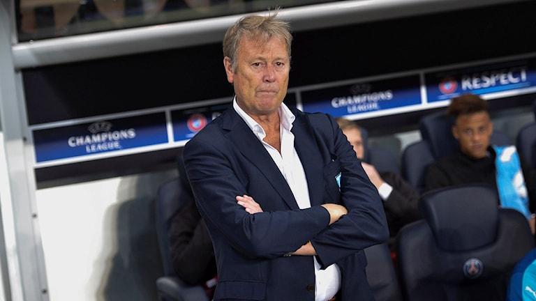 مدرب فريق نادي مالمو أوغة هاريدي النروجي يتحمل مسؤولية خسارة فريقه أمام نادي باريس سان جرمان