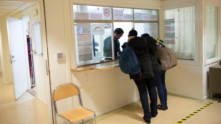 مركز لتقديم طلبات اللجوء في ماشتا ستوكهولم