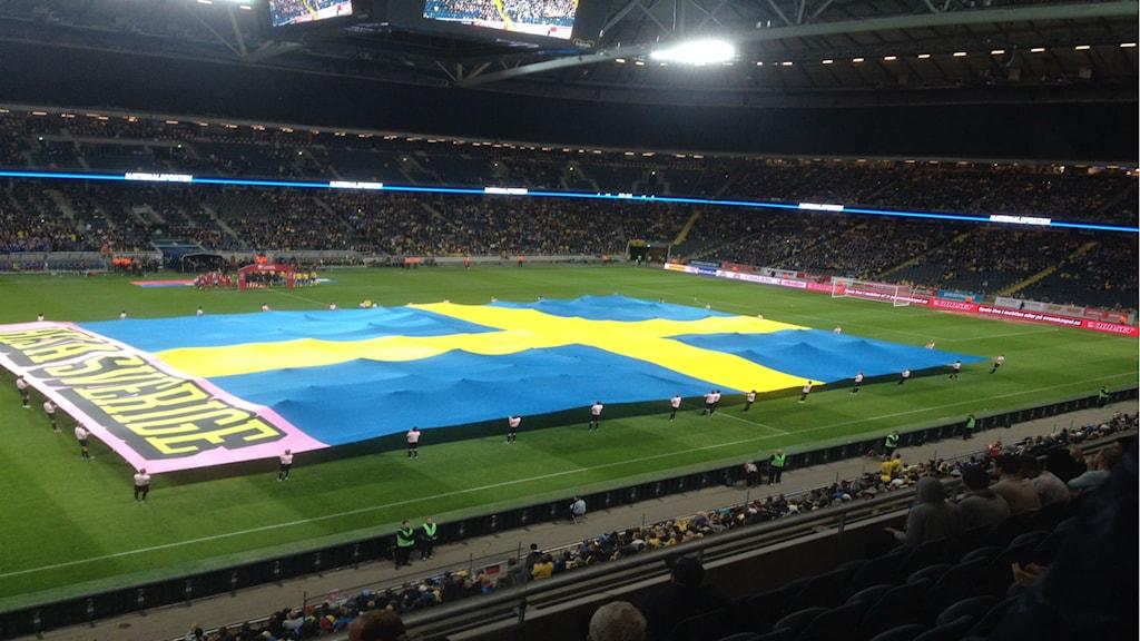 من مباراة الذهاب التي إنتهت لصالح السويد بنتيجة 2-0 / صورة عبد العزيز معلوم