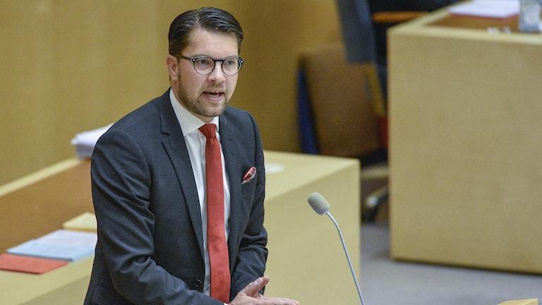 Лидер право-популистов Демократов Швеции Имми Окессон занял третью строчку в рейтинге самых могущественных людей в Швеции, по версии еженедельника Фокус. Фото: ТТ