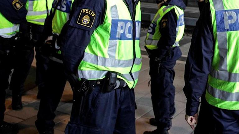 Polisen arbetar i skift dygnet runt. Foto: Stig-Åke Jönsson/TT.