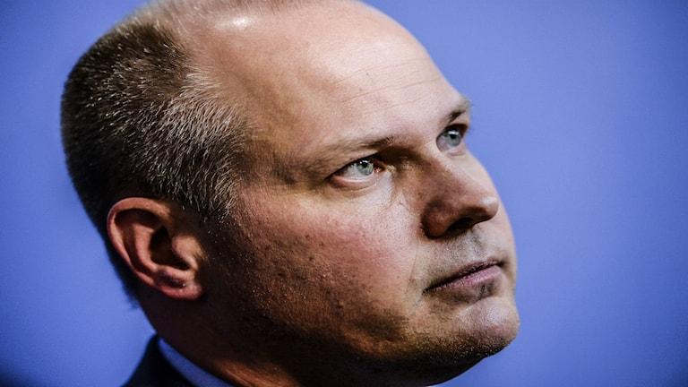 وزير الهجرة والعدل السويدي مورغان يوانسون / صورة يسيكا غو TT