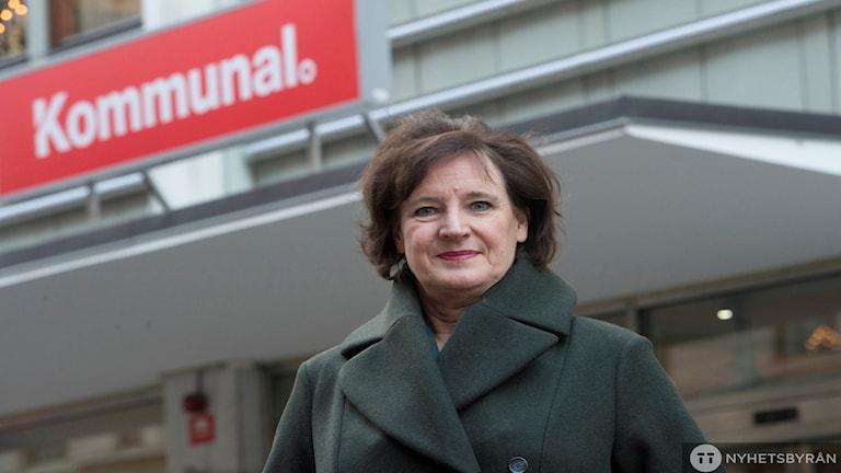 أنيلي نودستروم رئيسة  اتحاد نقابة عمال البلديات / صورة فريدريك ساندباري TT