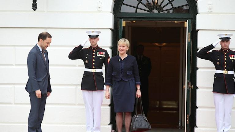 وزيرة الخارجية السويدية مارغوت فالستروم اليوم في واشنطن.