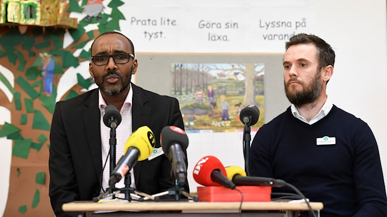 Hussein Ibrahim, rektor och Roger Lindquist, biträdande rektor på den muslimska friskolan