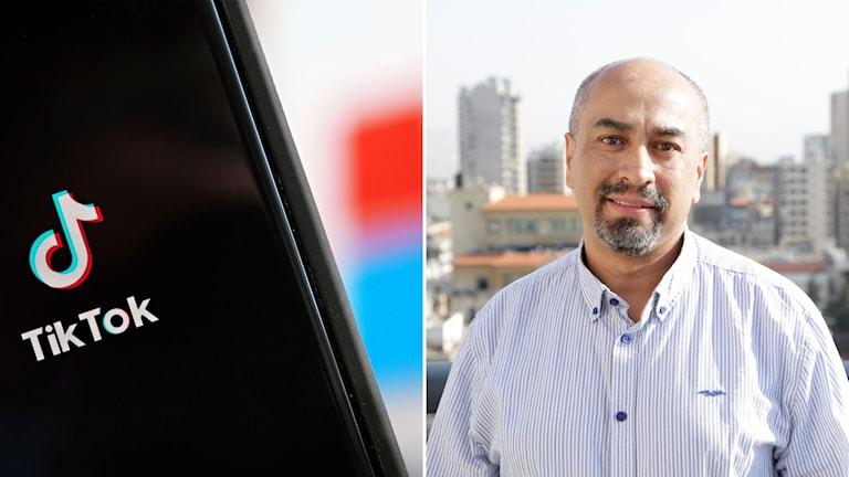 اليمين: وليد السقاف، محاضر في الصحافة وتقنية الاعلام لدى جامعة سوديرتورن.  صورة: Marahat Foundation/TT.