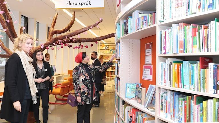 الأميرة بدور القاسمي في المكتبة الوطنية في يوتبوري