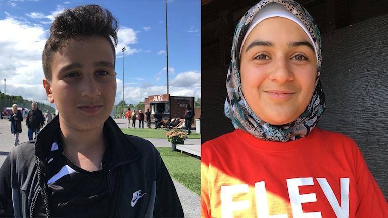 ليلى ويوسف من تلاميذ مدارس منطقة يارفا