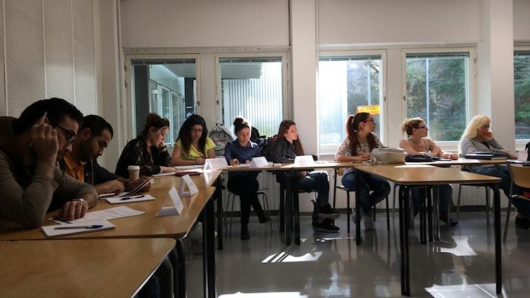 بعض من المشاركين في دورة المسار السريع للمعلمين أغسطس / آب جامعة ستوكهولم