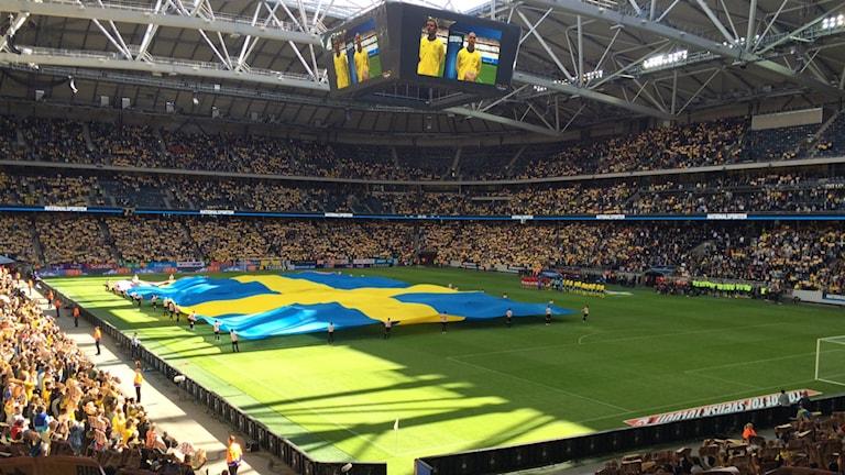 Sverige Wales Friends Arena 160605 Foto Abdelaziz Maaloum Sveriges Radio