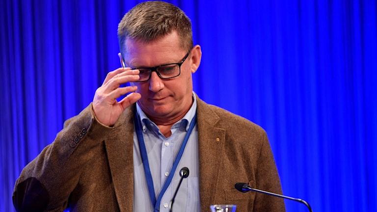 Klas Friberg, säkerhetspolischef (SÄPO) på Folk och Försvars Rikskonferens på Högfjällshotellet i Sälen.