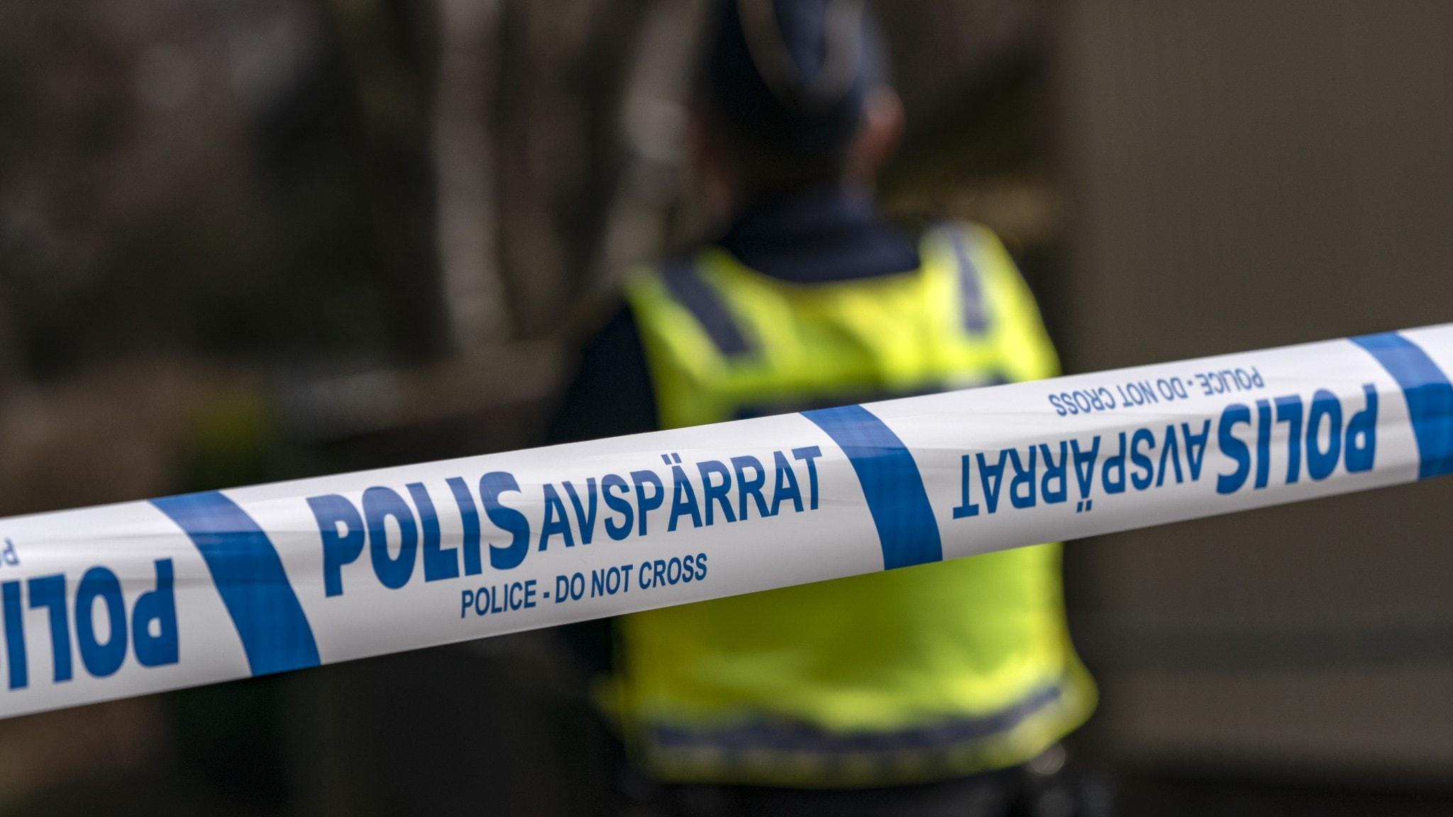 Polisavspärrningsband.