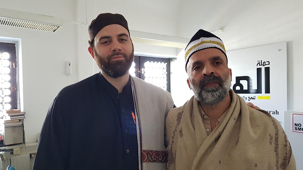 الإمام سمير أبوناج والإمام عامر الجش من دار الفتوى الإسلامية بمالمو.