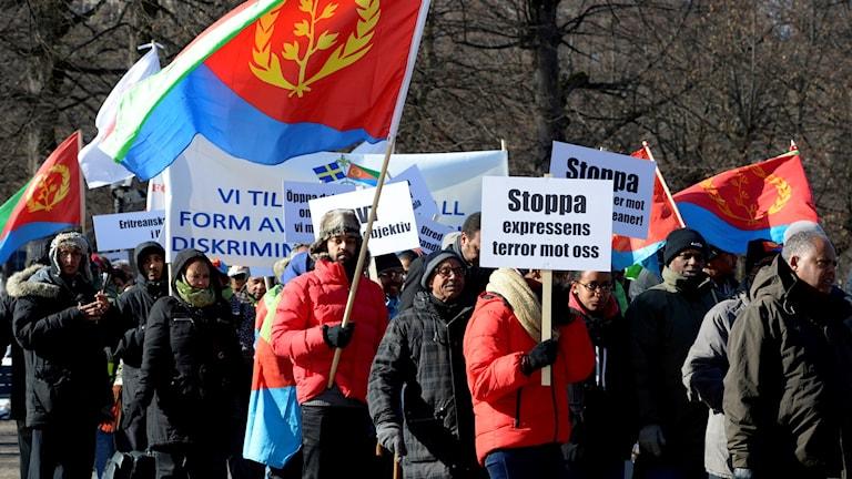 صورة ارشيفية لمظاهرات لأريترين في ستوكهولم