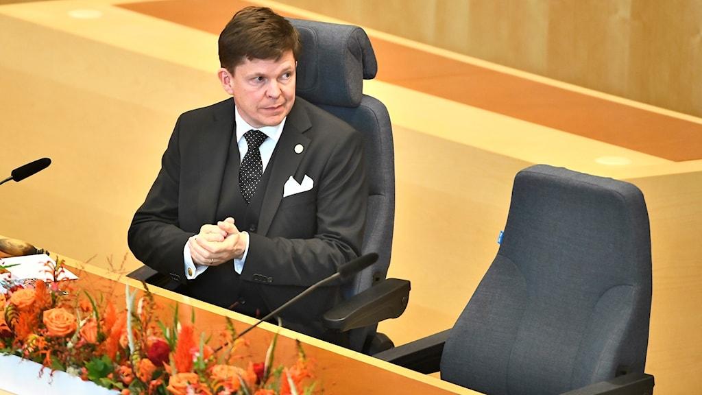 رئيس البرلمان أندرياس نورلين.