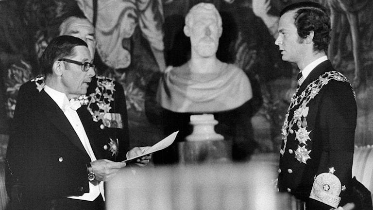 Nyblivne kungen Carl XVI  1973-09-19