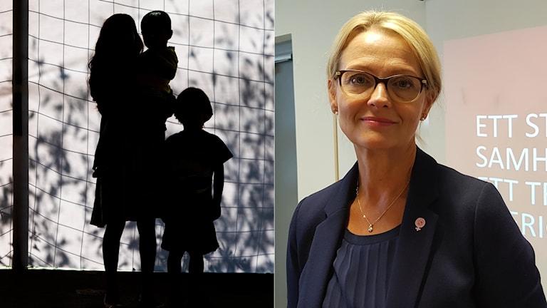 وزيرة الهجرة السويدية هيلين فريتسون.