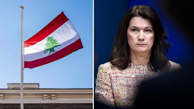 Utrikesministern Ann Linde förklarar att hon i nuläget jobbar med att kartlägga hur många svenskar som är i Beirut och vilken form av hjälp de behöver.