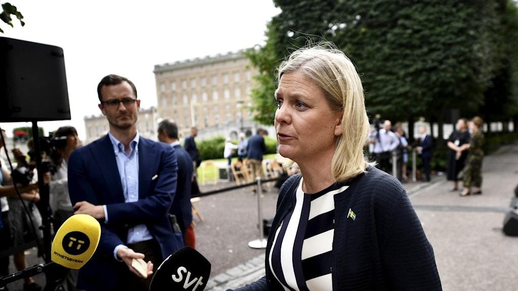 وزيرة المالية السويدية ماغدالينا أندرسون