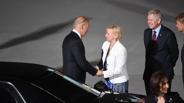 جو بايدن ووزيرة الخارجية السويدية مارغوت فالستروم.