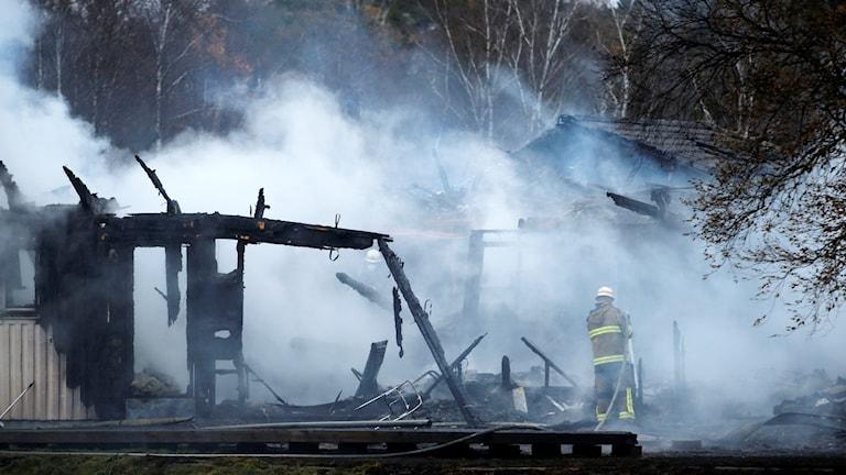 حريق في جنوب العاصمة ستوكهولم في العام الماضي.