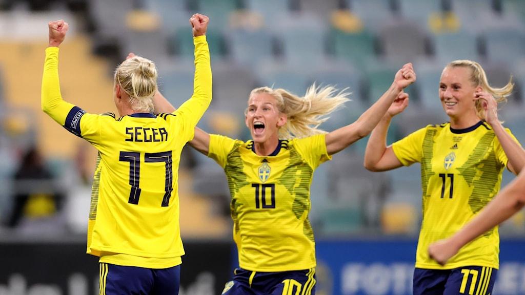 السويد تفوز بـ4 أهداف على جورجيا في تصفيات كأس العالم لكرة القدم النسائية