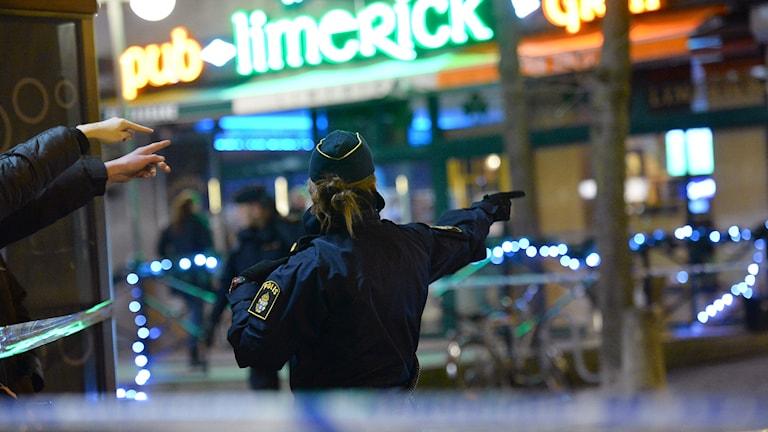 الشرطة في سودرتاليه.