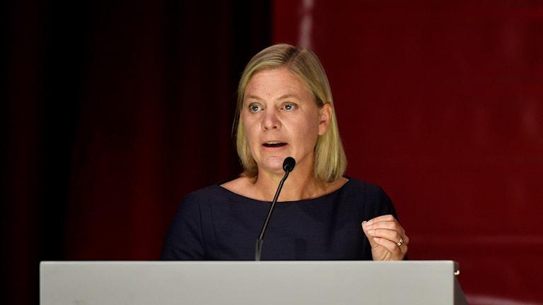 Finansminister Magdalena Andersson وزيرة المالية ماغدالينا اندرشون