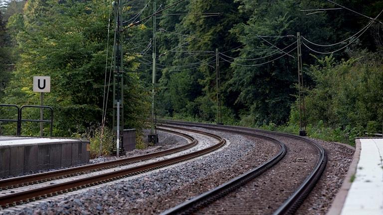 سكة حديدية.
