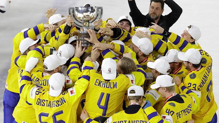 المنتخب السويدي بطل العالم للهوكي.