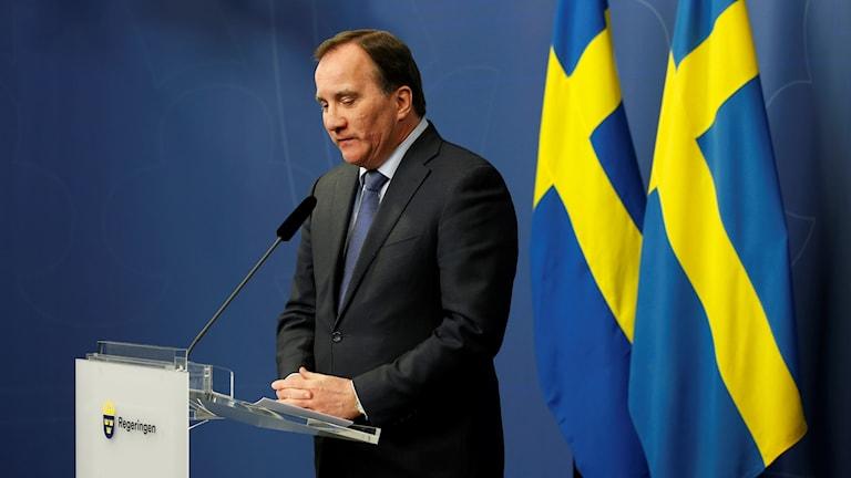 رئيس الوزراء السويدي ستيفان لوفين.