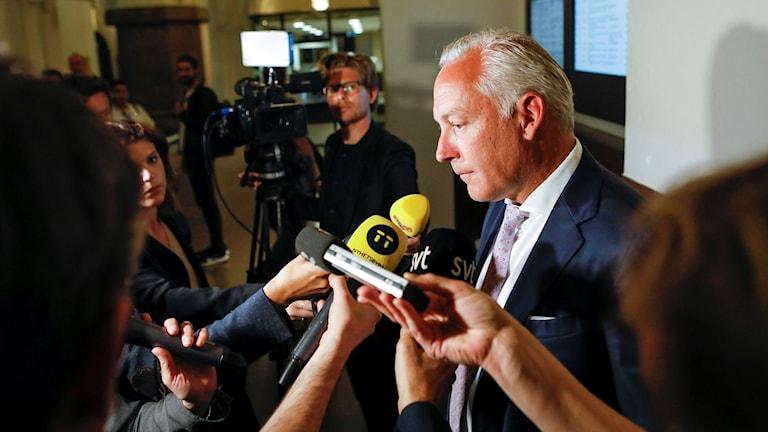 Kent Ekeroths advokat Johan Eriksson