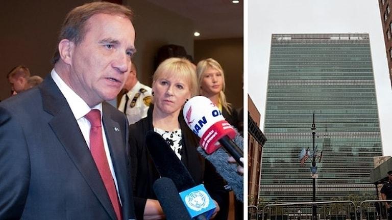 رئيس الوزراء ستيفان لوفين اليوم في نيويورك صورة: Foto: TT/Montage