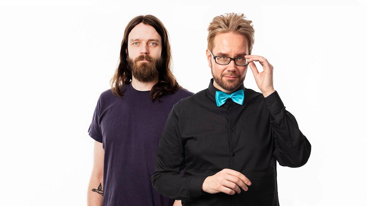 Programledarna Erkki Kuronen och Kai Rauhansalo
