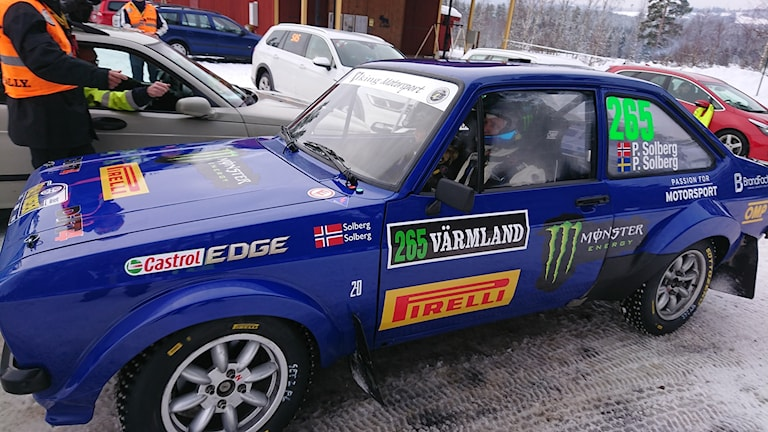 Petter Solbergs bil. Foto: Simon Johansson