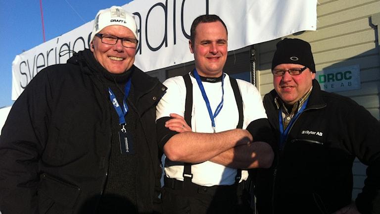 Mats Fagerström, Simon Johansson och Lasse Jonsson. Foto: Niklas Kaldner/Sveriges Radio