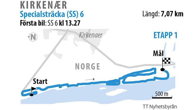 Grafik över SS 6 Kirkener 2.