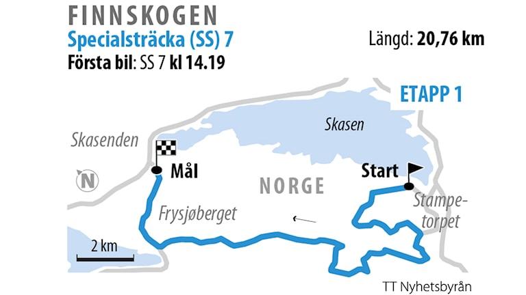 Grafik över SS 7 Finnskogen 2.