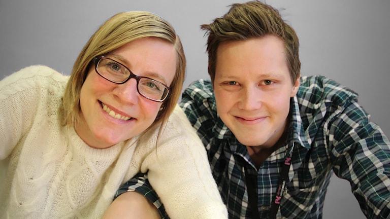Johanna Skoglund och Robert Ojala. Foto: Lars-Gunnar Olsson/Sveriges Radio.