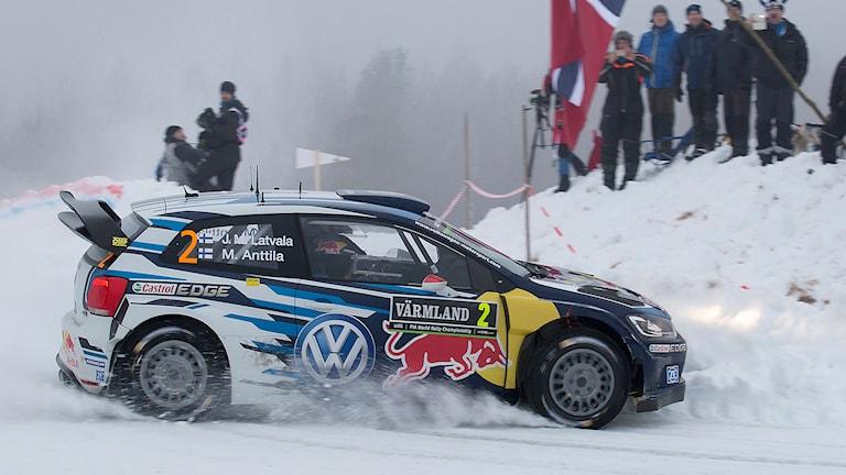 Jari-Matti Latvala och Miikka Antilla.  Foto: Micke Fransson/TT.