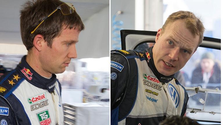 Sebastien Ogier och Jari-Matti Latvala. Foto: Micke Fransson/TT