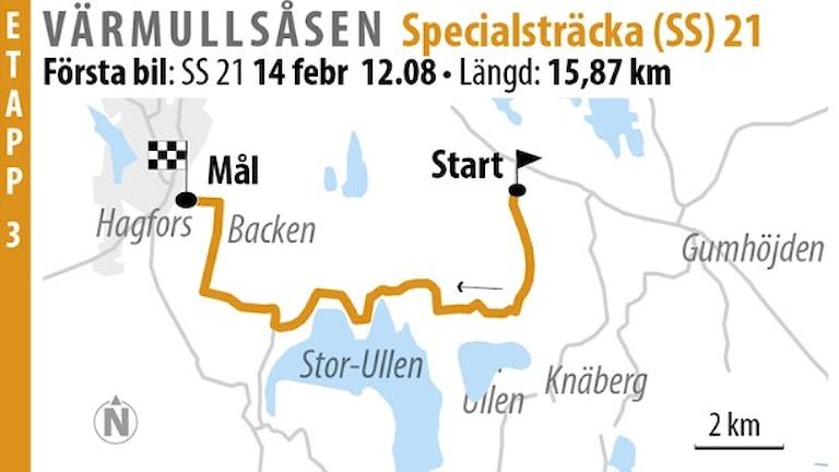 Svenska rallyt SS 21 Värmullsåsen 2 (2016). Foto: Jonas Dagson/TT