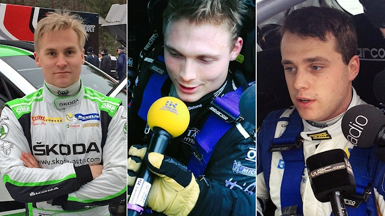 Rallycollage WRC 2-favoriter. Foto: SR