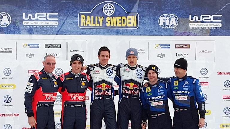 Pallen i Rally Sweden 2016. Foto: Christian Fryklund/Sveriges Radio.