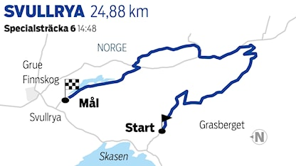 Grafik Svullrya sträcka 6 / TT Nyhetsbyrån