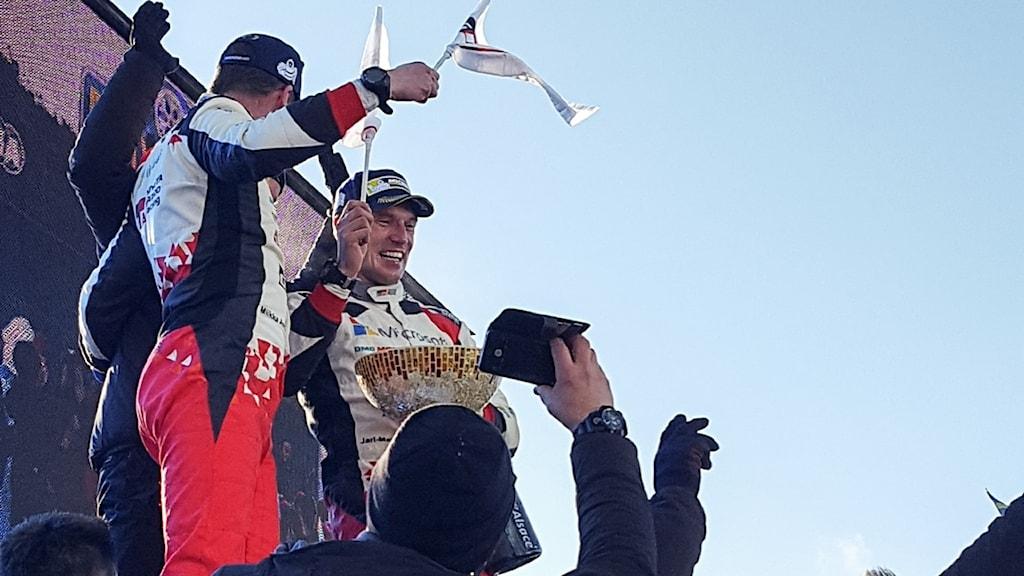 Jari-Matti Latvala vinner Svenska Rallyt 2017. Foto: Christian Fryklund/Sveriges Radio