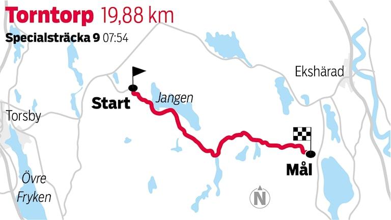 Grafik Torntorp sträcka 9 / TT Nyhetsbyrån